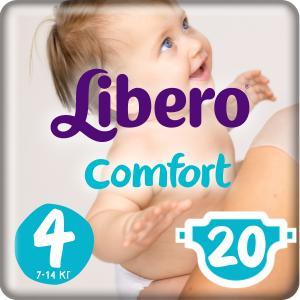 Подгузники  Comfort Size 4 (7-14 кг) 20 шт. Libero
