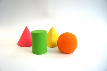 Латексная игрушка из 4-х геометрических фигур 664/4 Lanco