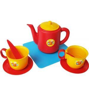 Посуда для кукол  Набор чашек с чайником Плэйдорадо