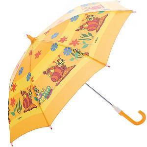 Зонт-трость  улитка со светодиодами, желтый Zest. Цвет: желтый