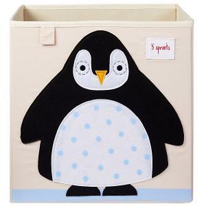 Коробка для хранения . Пингвин 3 Sprouts. Цвет: бежевый