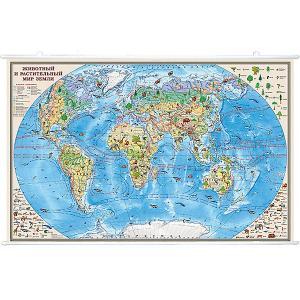 Карта Животный и растительный мир Земли 1:35М на рейках Издательство Ди Эм Би