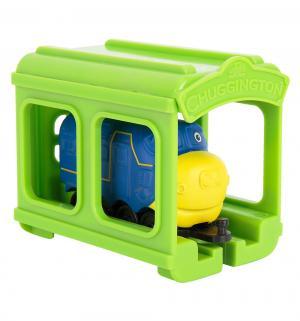 Игровой набор  Паровозик Брюстер с гаражом 9 см Chuggington