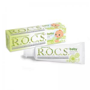 Зубная паста для малышей R.O.C.S. (от 0 до 3 лет) Душистая ромашка 45гр. Rocs