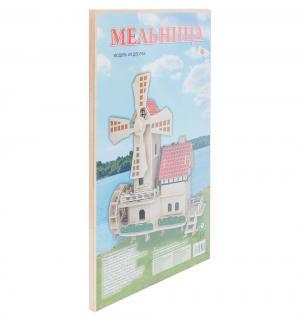 Сборная деревянная модель  Мельница Рыжий кот