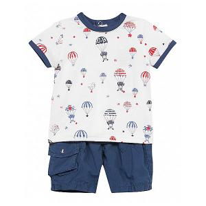 Комплект : футболка, шорты 3 Pommes. Цвет: синий