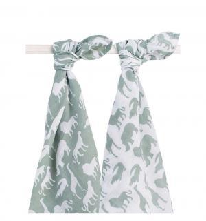 Комплект пеленка 4 шт 115 х см, цвет: зеленый Jollein