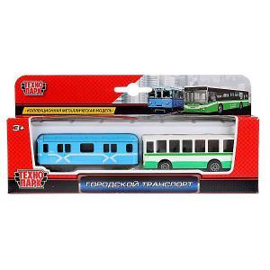 Игровой набор Технопарк Городской транспорт, 2 шт. Цвет: разноцветный