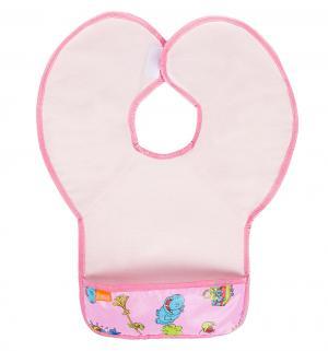 Нагрудник  защитный из клеенки с ПВХ покрытием, цвет: розовый Витоша