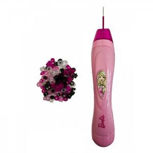 Устройство для вплетения бусин в косички механическое Sparkle Hair Beader с бусинами Barbie