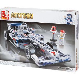 Конструктор  Автогонки: Гоночный автомобиль F1 Серебряная стрела, 257 деталей Sluban. Цвет: разноцветный