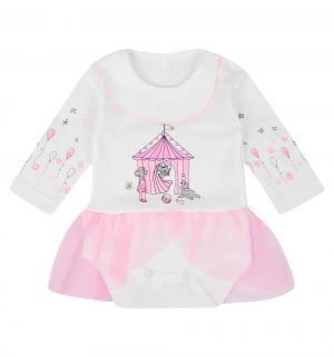 Боди  Маусвиль, цвет: молочный/розовый Осьминожка