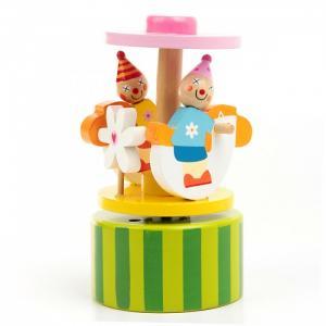 Деревянная игрушка  шарманка музыкальная Радостные клоуны Фабрика фантазий