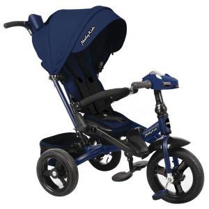 Трехколесный велосипед  New Leader 360° 12x10 AIR Car, цвет: темно-синий Moby Kids