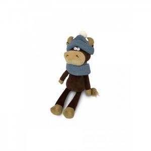 Мягкая игрушка  Бычок Василий в шарфе и шапке 23 см Maxitoys