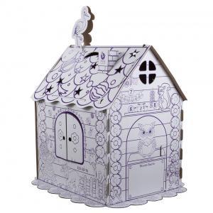 Раскраска  Картонный домик ПМДК
