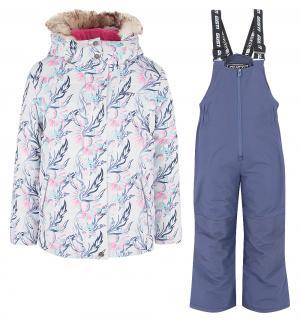 Комплект куртка/полукомбинезон , цвет: белый/розовый Gusti