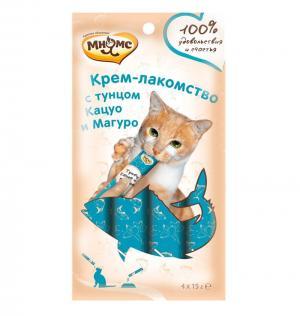 Лакомство  для взрослых кошек, тунец, 15 г х 4 шт Мнямс