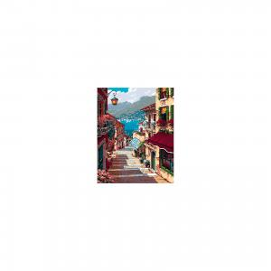 Холст с красками по номерам Улица, ведущая к морю 40х50 см Издательство Рыжий кот