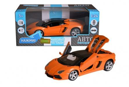 Машинка металлическая Lamborghini Aventador Roadster 1:24 Автопанорама