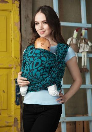 Mums Era Слинг-шарф, цвет: бирюзовый/черный Mum's