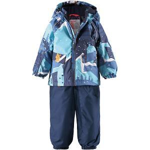 Комплект  Mjuk: куртка и полукомбинезон Reima. Цвет: синий деним