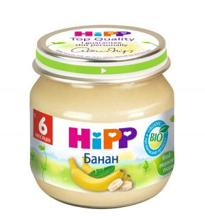 Пюре  банан с 6 месяцев, 80 г Hipp