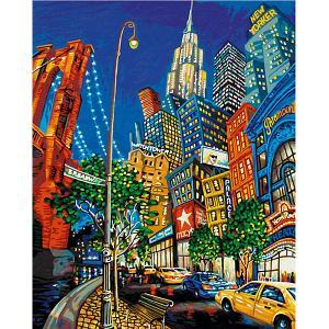 Картина по номерам  Нью Йорк-Большое Яблоко, 40х50 см Schipper. Цвет: разноцветный