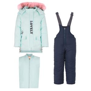 Комплект куртка/полукомбинезон , цвет: голубой/синий Fun Time