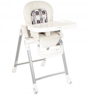 Стульчик для кормления  Gusto Ecru, цвет: бежевый/белый с рисунком Inglesina