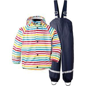 Комплект Didriksons Slaskeman Printed: куртка и полукомбинезон. Цвет: разноцветный
