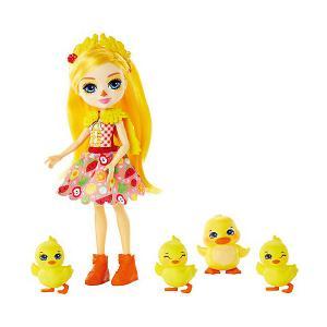 Игровой набор Enchantimals Кукла Дайна Утя и Слош, Корн, Баттер, Бэнэна Mattel. Цвет: разноцветный