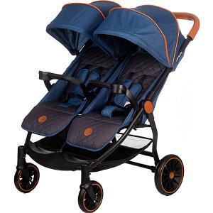 Прогулочная коляска для двойни Acarento Bellezza Duo, джинс с серым Baby Hit. Цвет: джинсовый
