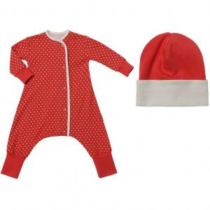 Комплект комбинезон/шапка  Моя звездочка, цвет: коралловый Bambinizon