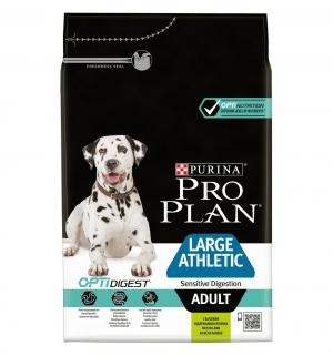 Сухой корм  Optidigest для щенков крупных пород с атлетическим телосложением, ягненок, 3кг Pro Plan