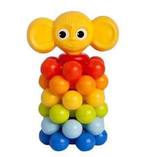 Развивающая игрушка  Мини-пирамидка Ушастик с шариками Росигрушка