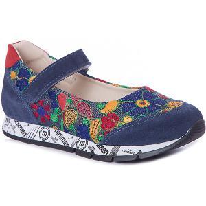 Туфли  для девочки Minimen. Цвет: синий