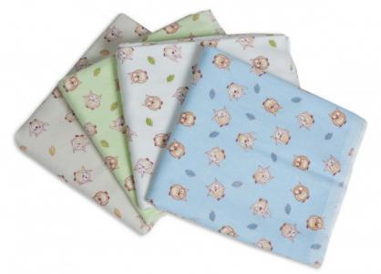 Пеленка  для новорожденных фланелевая Сыночку Совушки 4 шт. Чудо-чадо