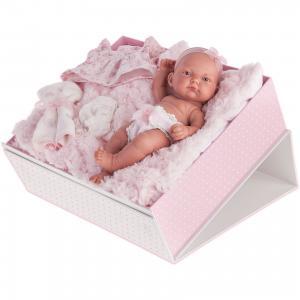 Кукла-младенец Карла в чемодане, розовый, 26 см, Munecas Antonio Juan