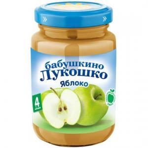 Пюре  в баночке яблоко с 4 месяцев, 200 г Бабушкино лукошко