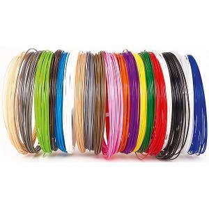 Набор пластика для 3D ручек  PLA-20 20 цветов, 10 м каждый Unid