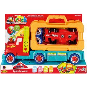 Игровой набор Qunxing Toys Автовоз. Цвет: красный/оранжевый