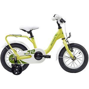Двухколесный велосипед  NiXe 12, жёлтый Scool. Цвет: желтый
