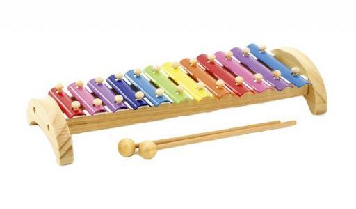Музыкальный инструмент  Ксилофон металлический 12 тонов Мир деревянных игрушек
