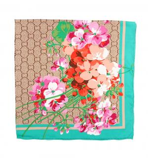 Платок Женские штучки 85х85 см, цвет: бирюзовый/бежевый