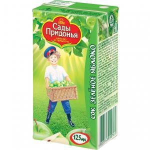 Сок  зеленое яблоко, 125 мл Сады Придонья