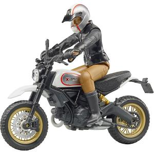 Мотоцикл Scrambler Ducati Desert Sled с мотоциклистом Bruder