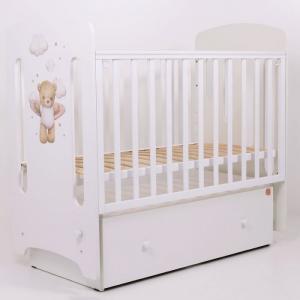 Детская кроватка  Лучик МДФ маятник поперечный Топотушки