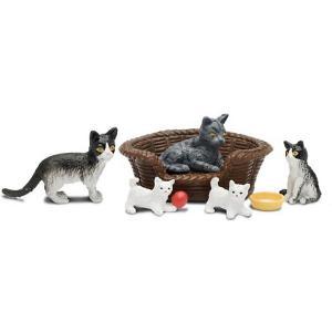Набор фигурок животных  Кошачья семья Lundby. Цвет: разноцветный