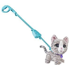 Мягкая игрушка FurReal Friends Большой питомец на поводке Кошка Hasbro